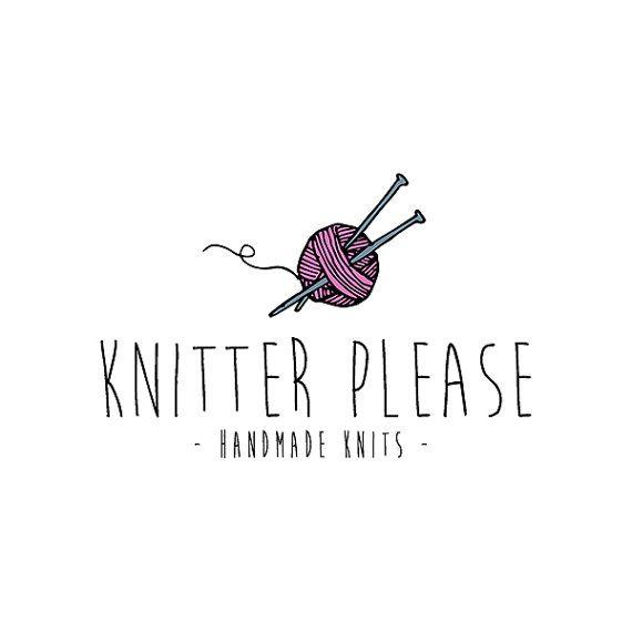 Knitting Logo Ideas : Knitter logo design knit yarn premade
