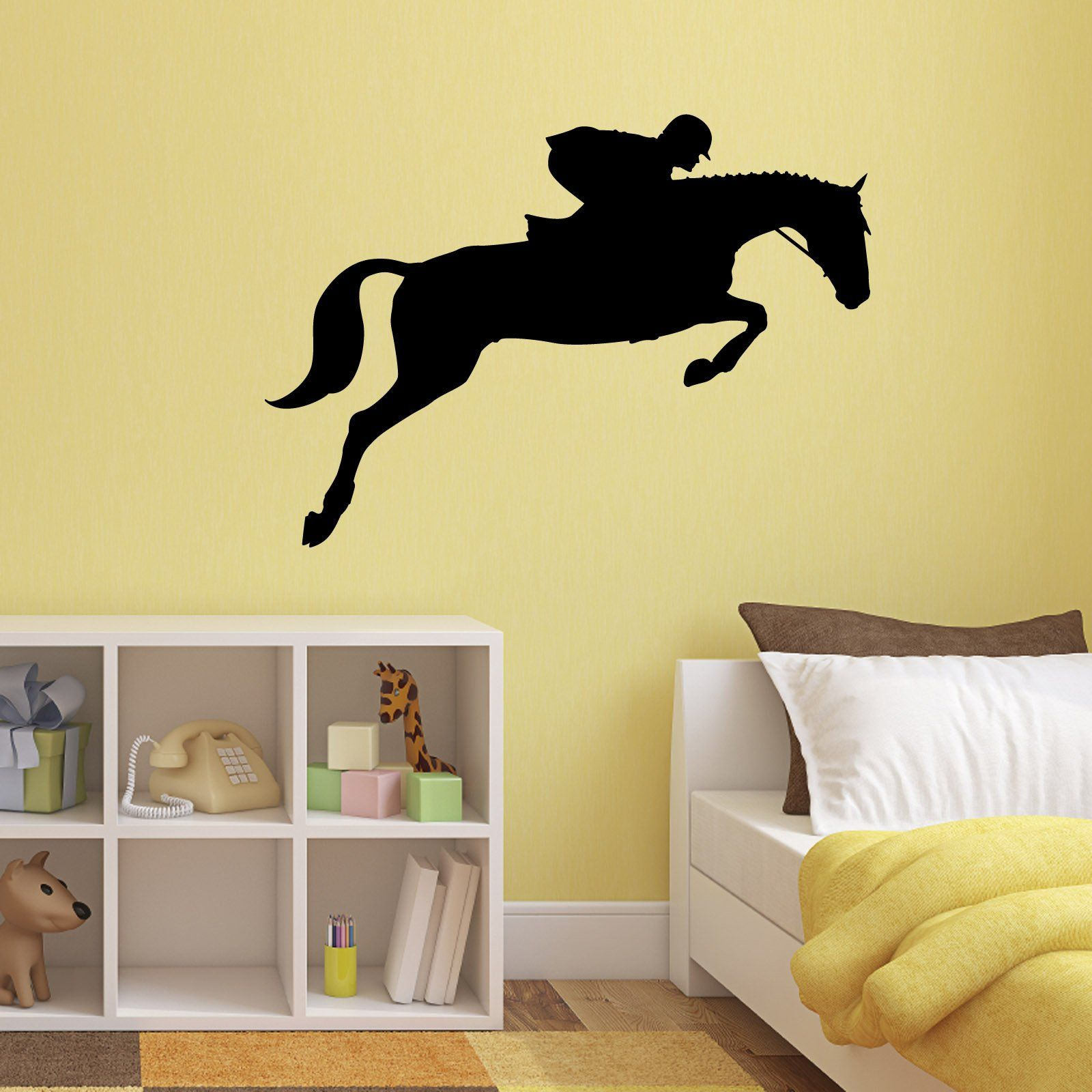 Show Jumping Horse Wall Decal - Equestrian Sports Sticker: Amazon.co ...