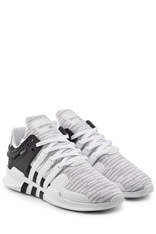 f228eb86dd74 Eqt Support Adv Rubber And Faux Suede-Trimmed Mesh Sneakers
