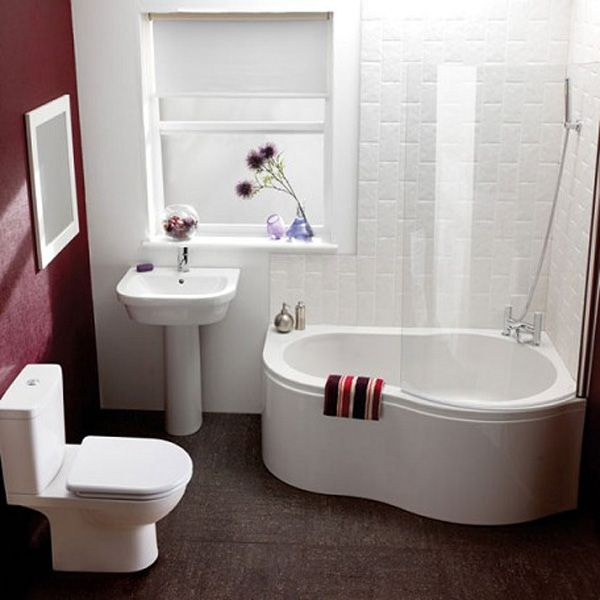 55 Cozy Small Bathroom Ideas Small tub Tub shower combo and