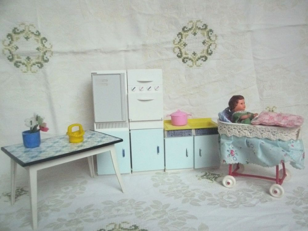 Puppenstube küchemöbel crailsheimer spüle tisch stubenwagen backofen