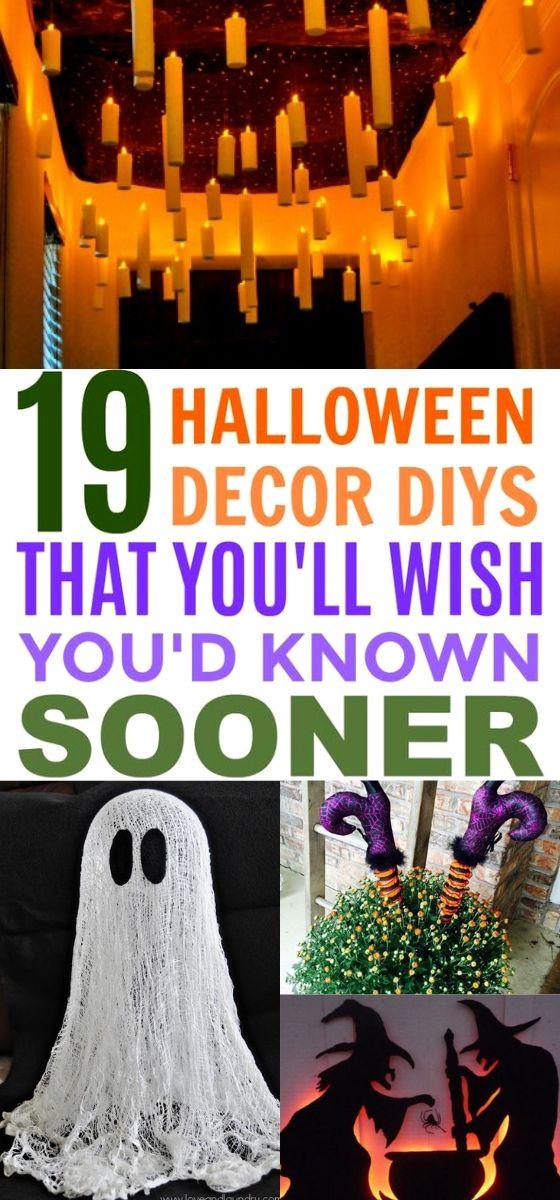 19 Boo-Tastic DIY Halloween Decorations #halloween