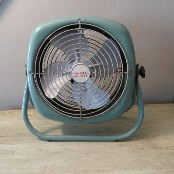 Vintage Fan Aqua Fan General De Luxe Fan Vintage Fans Small