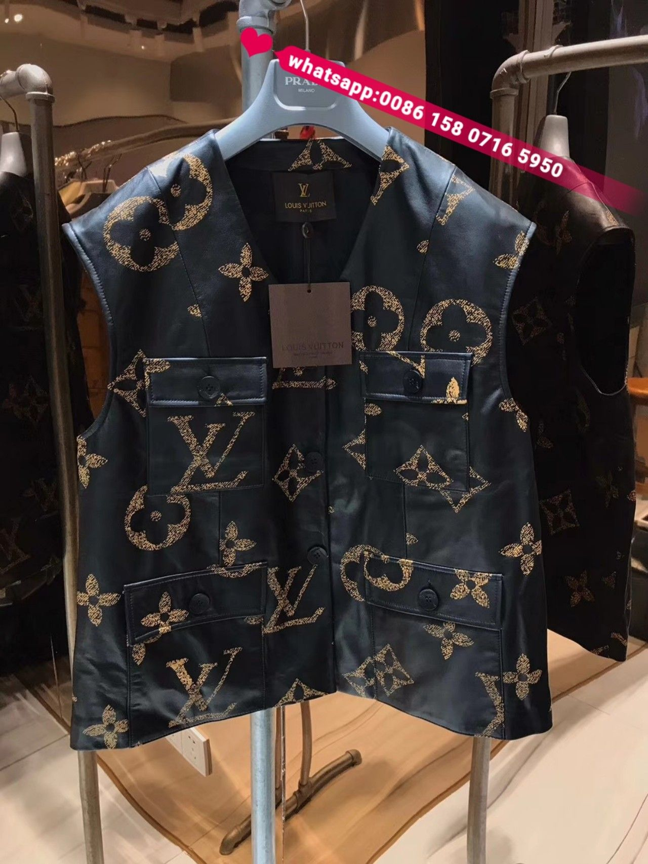 Pin by GZ agent on Louis Vuitton Womens vest, Leather