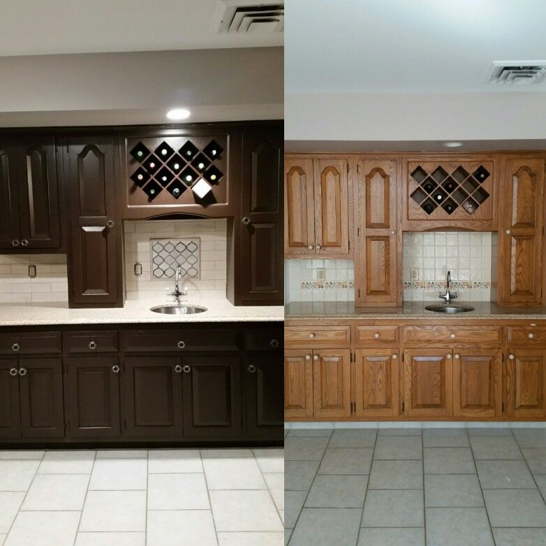 Kitchen Makeover Dark Brown Painted Cabinets New