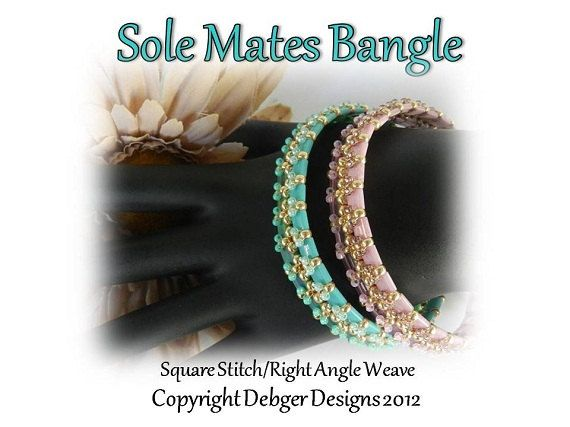 Sole Mates Bangle Tila Pattern Tutorial by DebgerDesigns on Etsy, $7.50