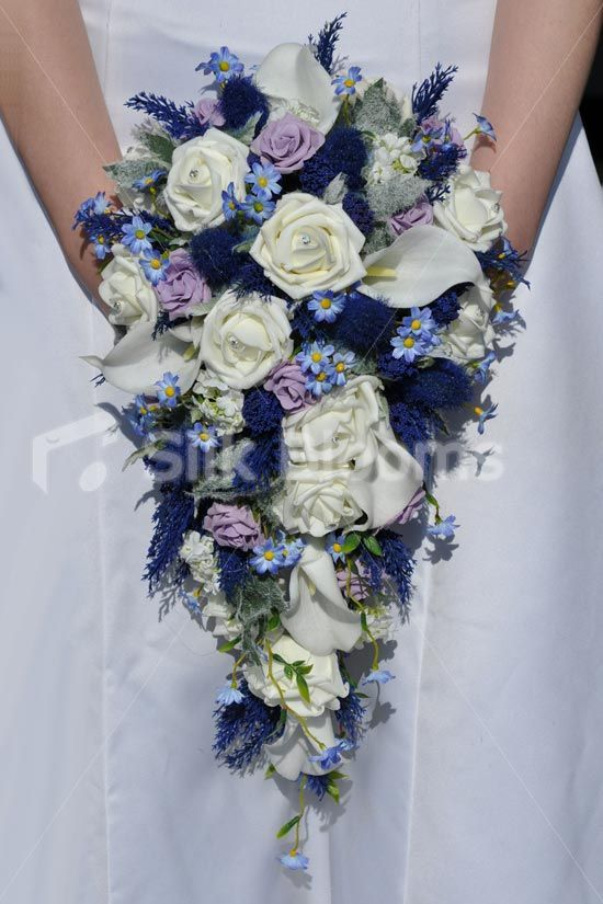 Scottish Inspired Ivory Rose Thistle Calla Lily And Daisy Cascade Bridal Bouquet Rose Bridal Bouquet Bridal Bouquet Calla Lily Wedding