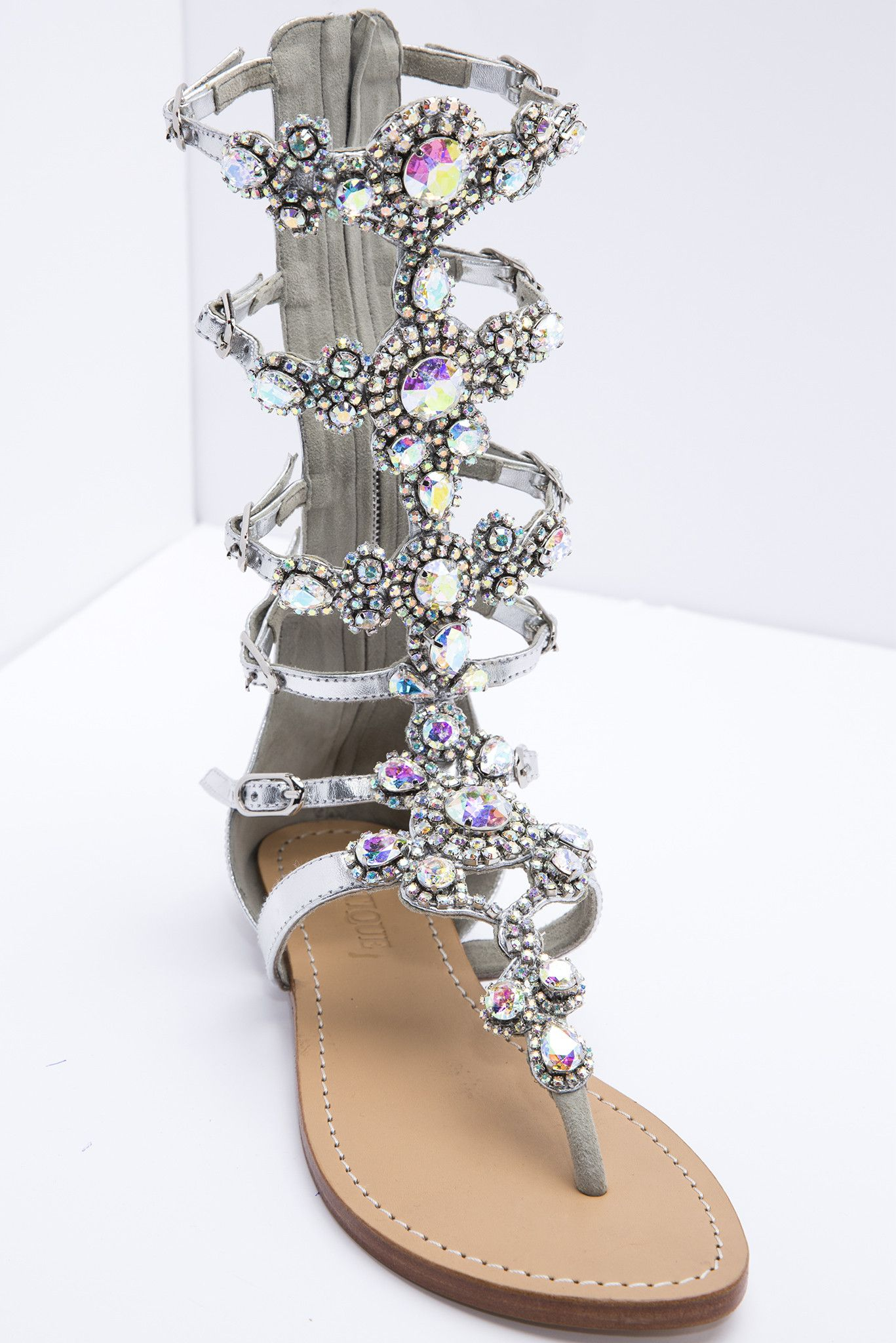8b9b4343c3c385 Glisten Up Their Day Gladiator Sandals By Mystique from Kosmios More
