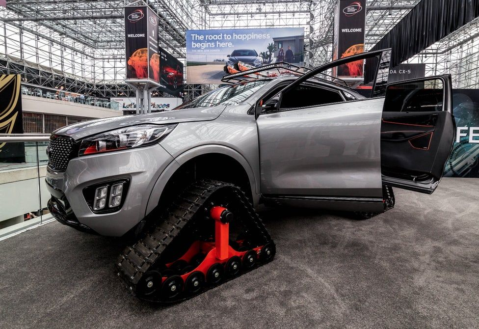 In Pictures Track Trail And Tuned Cars From The New York Auto Show Jacked Up Trucks Jacked Up Truck Trucks