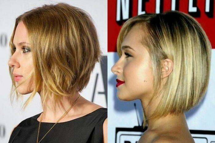Idée Coiffure : Description carré court plongeant, carré effilé pour cheveux mi longs, style de ...