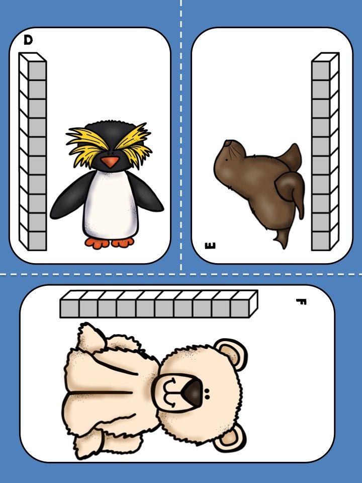 Polar Animals Measurement - Free Math Center | First Grade Math ...