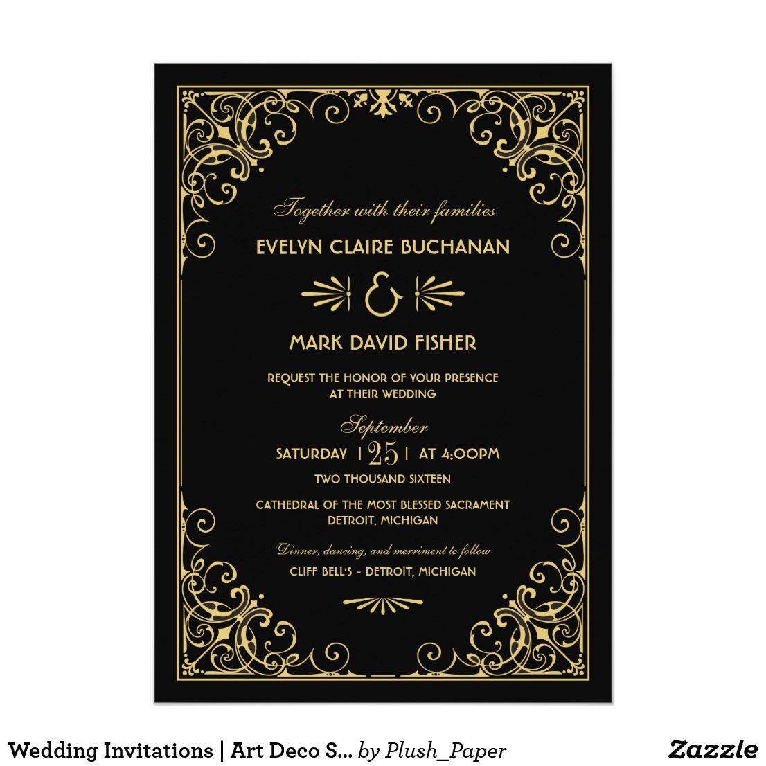 Wedding Invitations   Art Deco Style