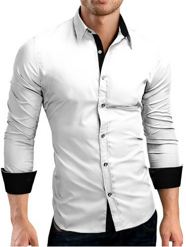 White Tailored Cotton Pin Collar Shirt - Mens Formal Shirts - 2 ...