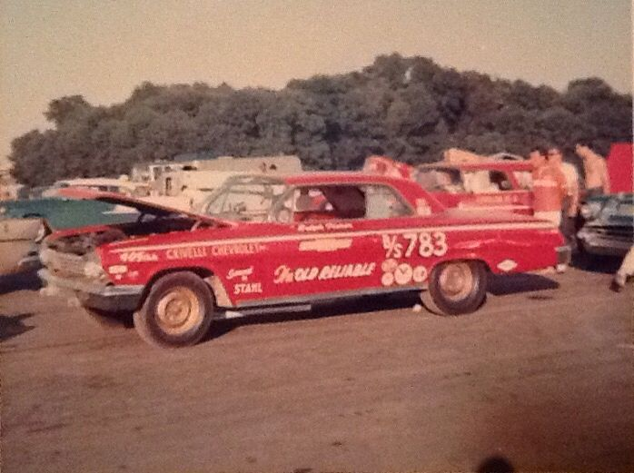 Old Reliable 62 Impala Us 30 Dragway Drag Racing Cars Drag Cars Drag Racing