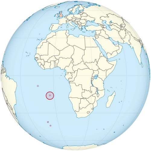Location of Saint Helena in the South Atlantic Ocean Africa 5