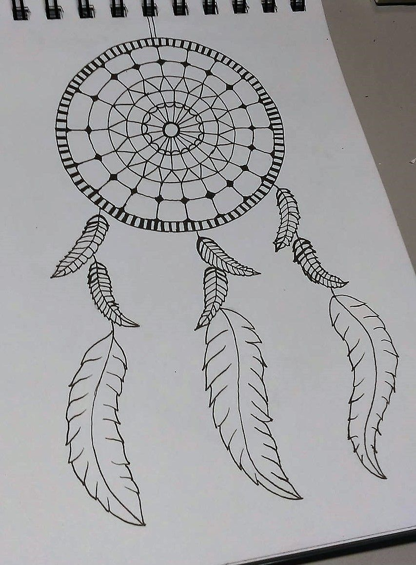 Zentangle Drawing Dream Catcher Not Sure If U Can Call This Zentangle Very Simple And Quick D Mandala Design Art Zentangle Drawings Easy Mandala Drawing