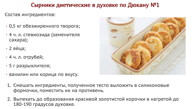 Диета дюкана рецепты завтраков
