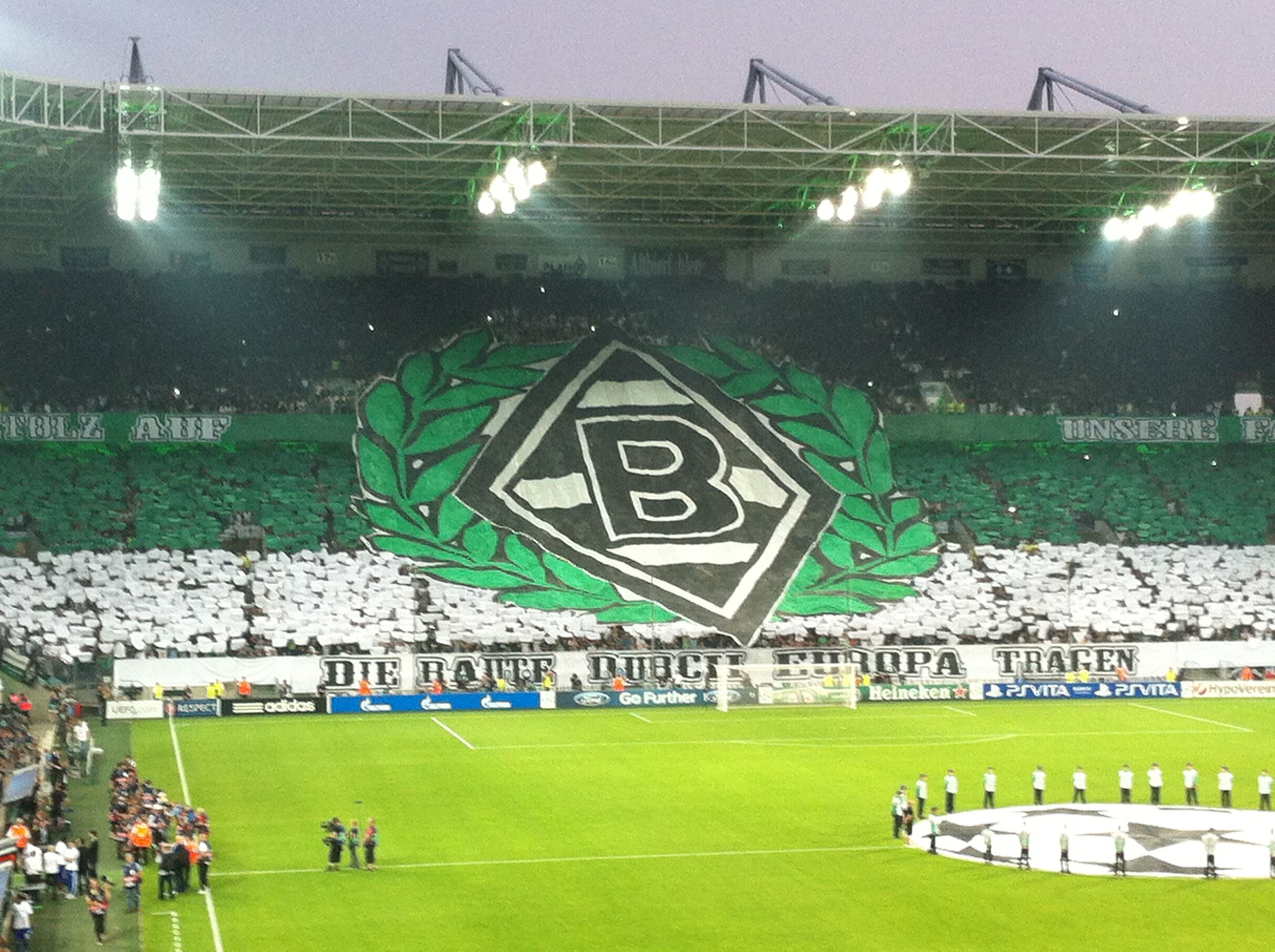 Borussia Park In Monchengladbach Beim Hinspiel Der Champions League Gegen Dynamo Kiew Am 21 Aug Vfl Borussia Monchengladbach Borussia Monchengladbach Borussia