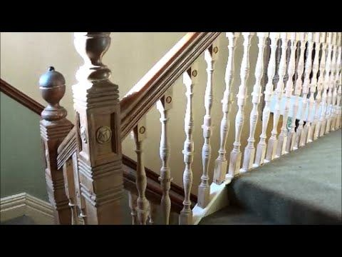 A Short Of How I Repaired Two Stair Banister Spindles Using My Home Made  Boring Machine. Spindles Had Been Butt Glued Repaired Before So Inserting A  Dowel ...