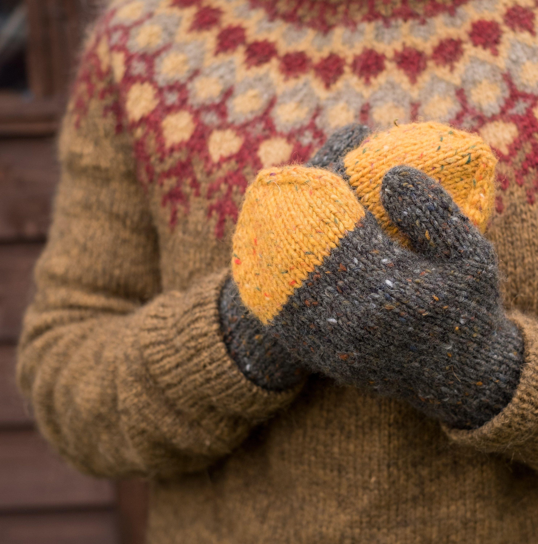 Winter Mittens Handknitted Gloves Irish Wool Mittens