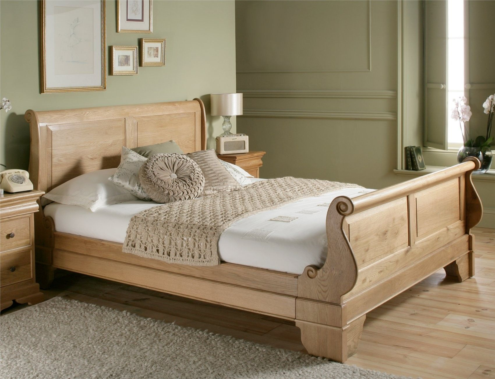 Types Of Beds Wooden Sleigh Bed
