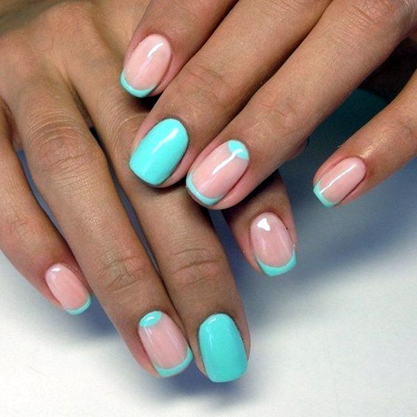 pretty french nails designs manicura francesa