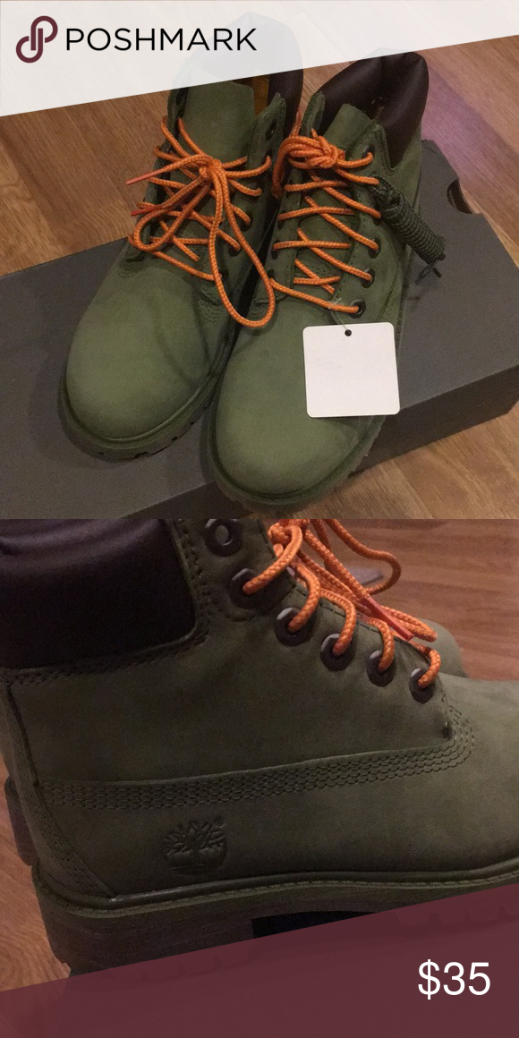 Timberland Boots Forest green. Brand new. Has additional