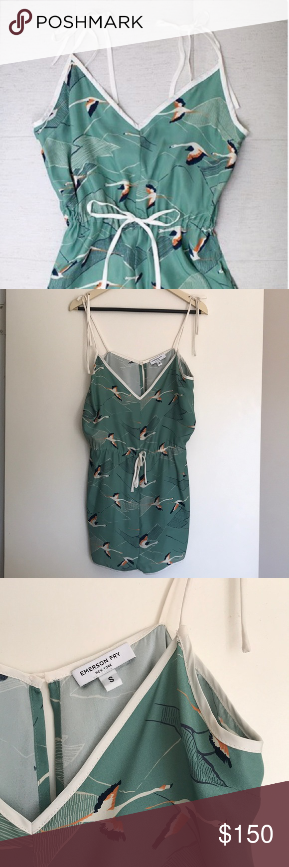 Emerson Fry Camiknicker silk flamingo romper EUC Emerson Fry silk flamingo romper with silk bag in matching pattern. Never worn just hoarded.  Tie string at waist and button in back. Tie string at shoulder top Emerson Fry Intimates & Sleepwear Pajamas #emersonfry Emerson Fry Camiknicker silk flamingo romper EUC Emerson Fry silk flamingo romper with silk bag in matching pattern. Never worn just hoarded.  Tie string at waist and button in back. Tie string at shoulder top Emerson Fry Intimates & Sl #emersonfry