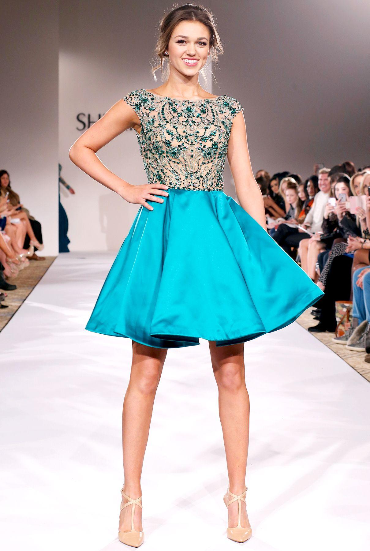 79bea467ec6 Duck Dynasty star Sadie Robertson walked the runway at the Sherri Hill show  during Mercedes-Benz New York Fashion Week on Feb. 19