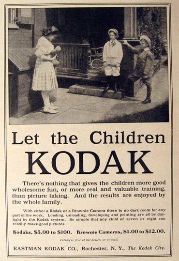1910 Kodak Camera Ad Let The Children Kodak Vintage Radio Camera Tv Ads Camera Ads Vintage Camera Kodak Camera