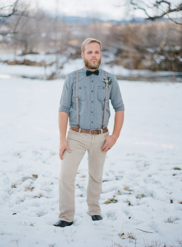 Winter Groom Style, winter wedding ideas, elegant rustic wedding ideas