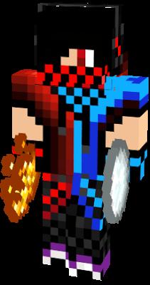 Fire And Ice Ninja Boy Fire And Ice Minecraft Skins Minecraft Skin