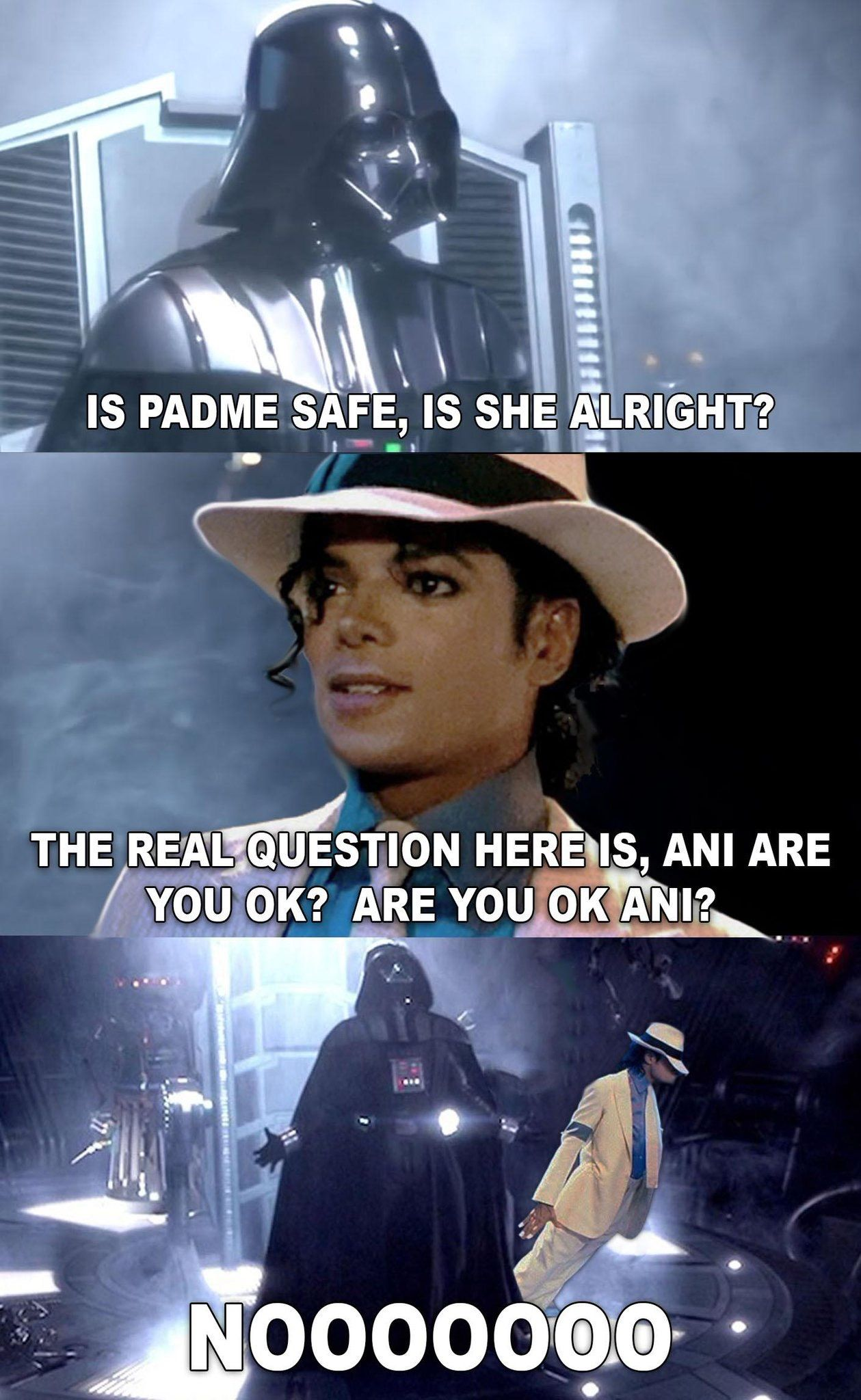 Vader And Michael Jackson Meme Star Wars Humor Funny Star Wars Memes Star Wars Jokes