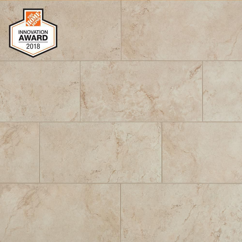 Lifeproof Limestone 12 In X 24 In Glazed Porcelain Floor And Wall Tile 15 6 Sq Ft Case Lp521224hd1p6 Porcelain Flooring Flooring Floor And Wall Tile