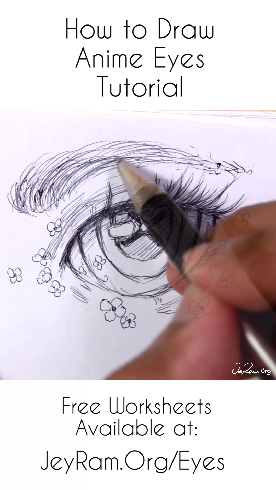 Photo of How to Draw Anime Eyes: Step by Step for Beginners Free Printable PDF by JeyRam