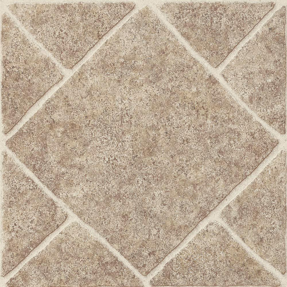 Armstrong diamond limestone umber 12 in x 12 in residential peel and stick vinyl tile flooring 45 sq ft case 25224061 the home depot