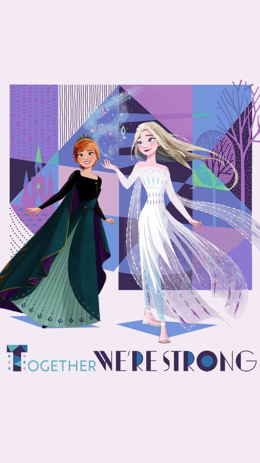 Frozen 2 Hd Background Mobile Elsa White Dress And Anna Queen In 2020 Anna Hair Disney Princess Wallpaper Facial Hair Care