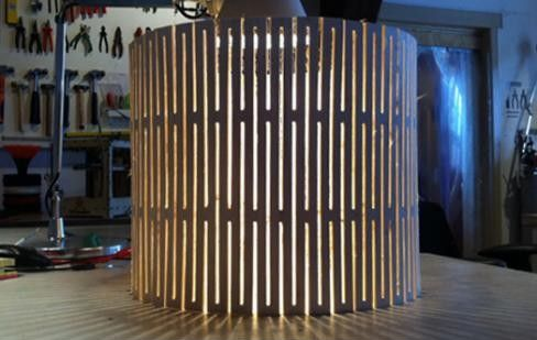 Fablamp, Open Source Flexible Wood Lamp