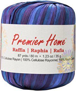Premier Yarns Raffia Yarn - Multis-Twilight, Other, Multicoloured
