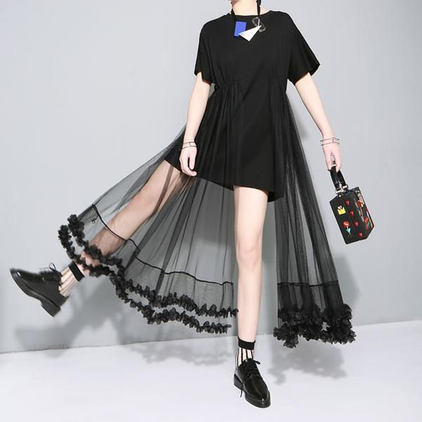b5b76a7d15dc4 Black Lace Princess Dress