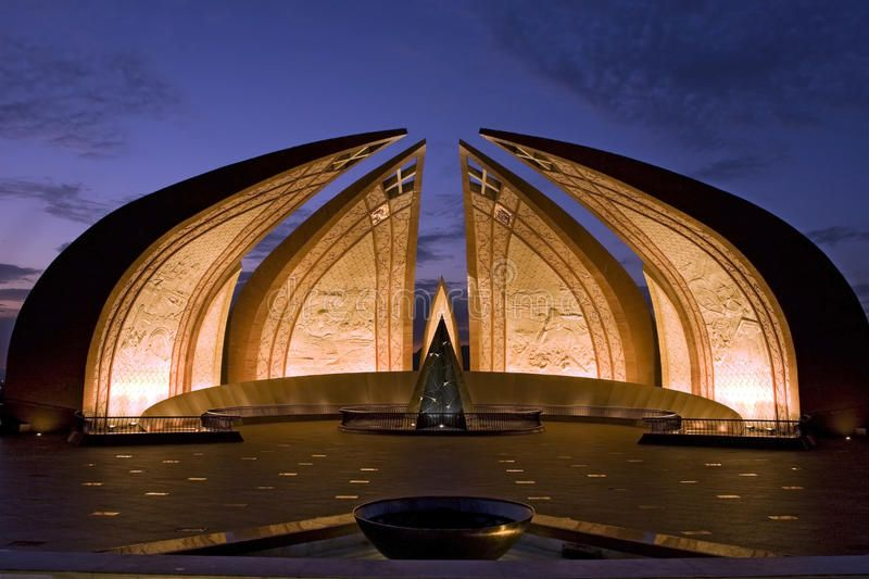 Nightview Of Pakistan Monument In Islamabad Pakistan Monument