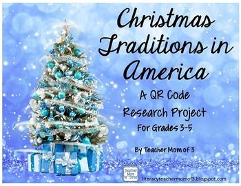 christmas traditions in america qr code research writing booklet