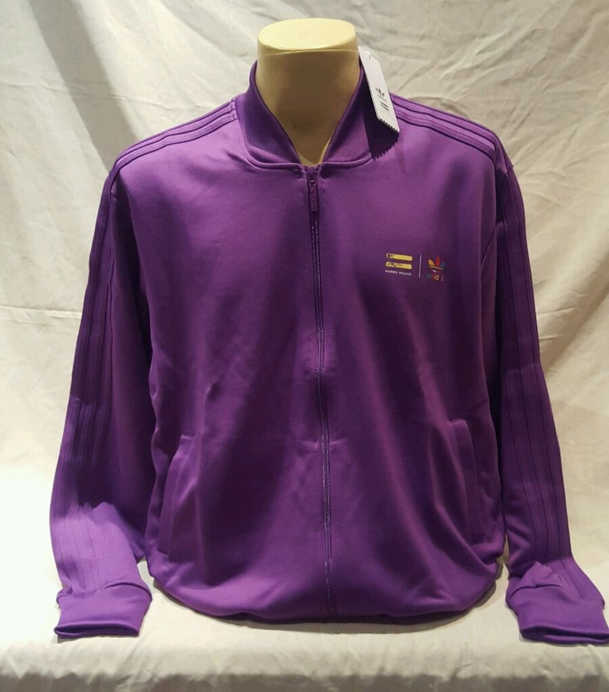 adidas Originals Mens X Pharrell Williams Supercolour Track Jacket Ray Purple XL in Clothes, Shoes & Accessories, Men's Clothing, Hoodies & Sweats | eBay