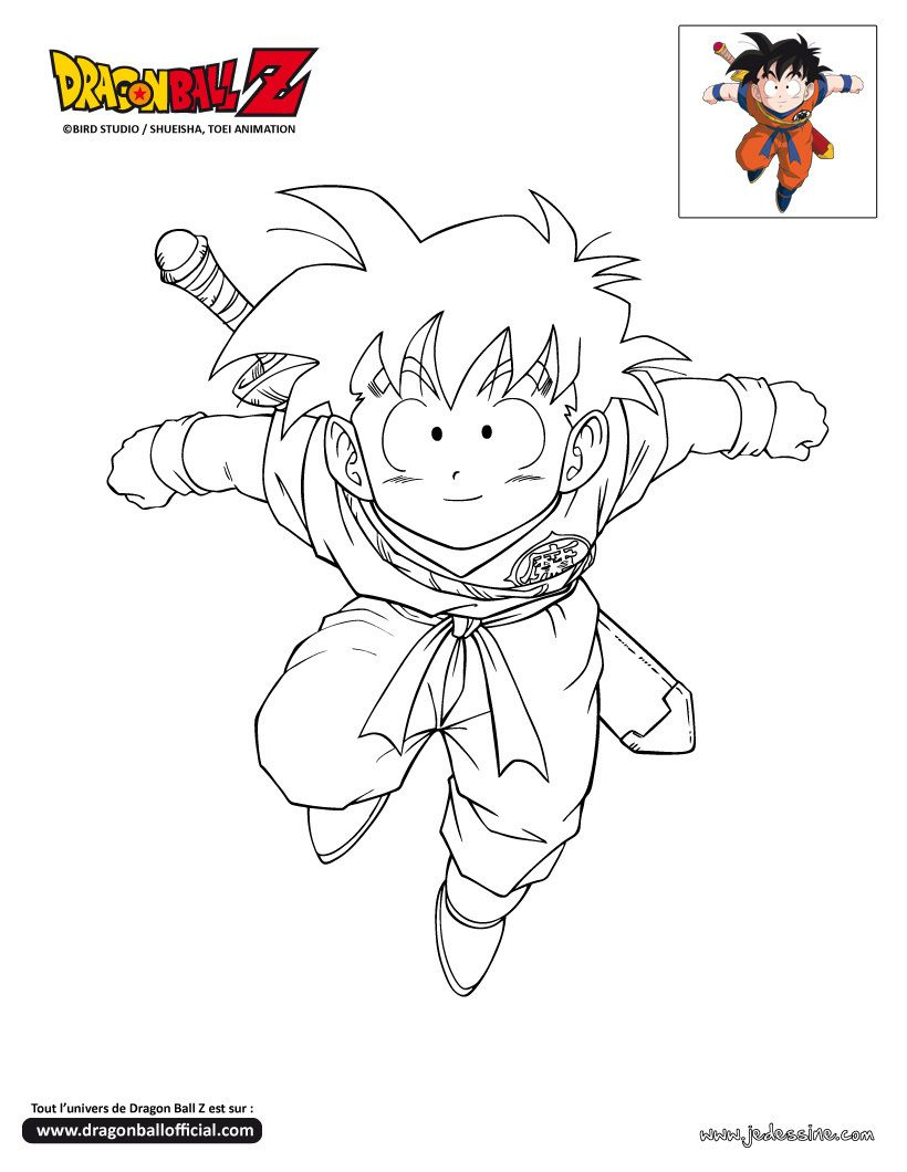 Coloriage dragon ball z dessin anim coloriage dragon - Dessin de dragon ball ...