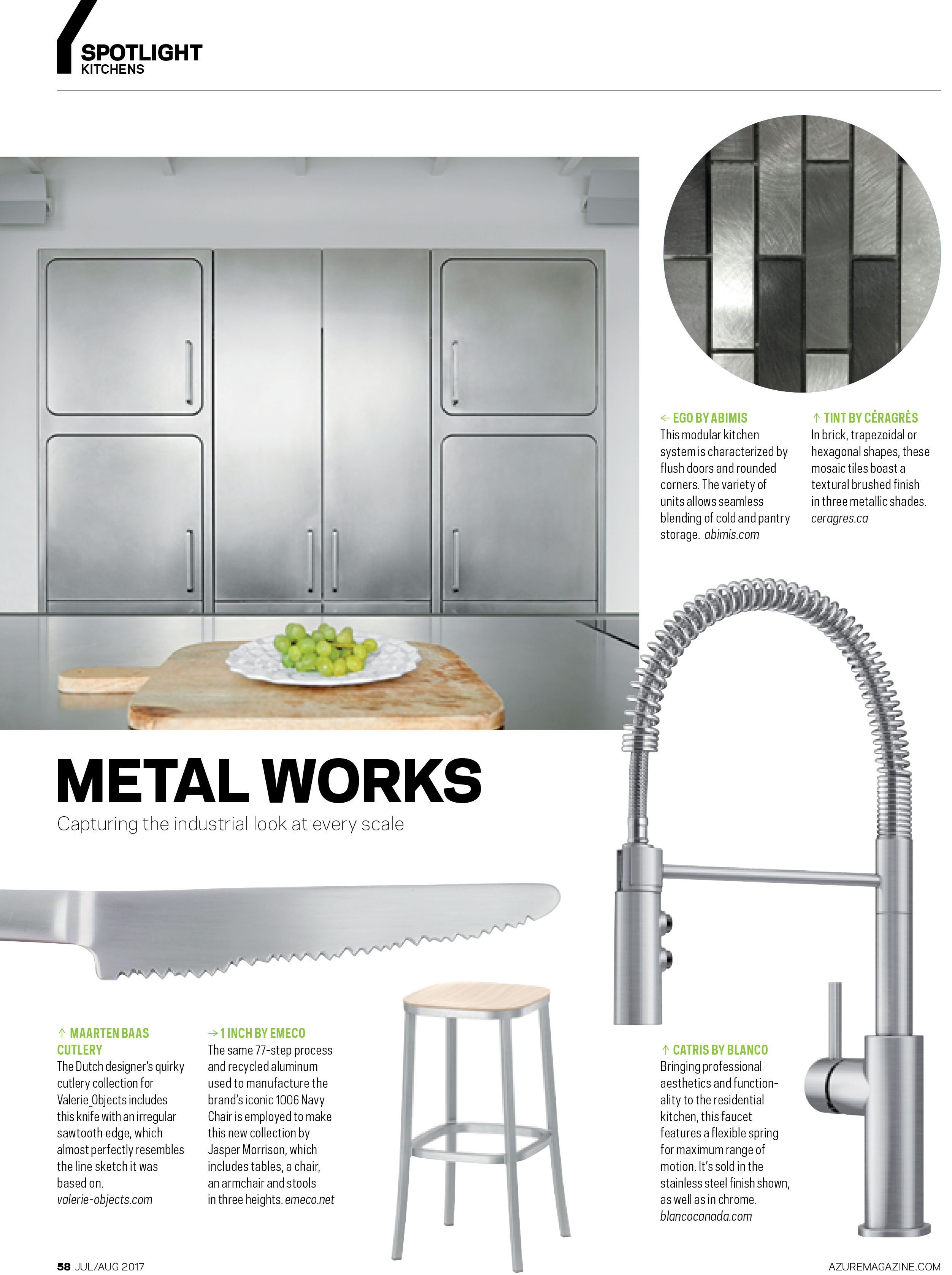 Stainless steel kitchens will always be in style ft blanco catris faucet in azure magazine