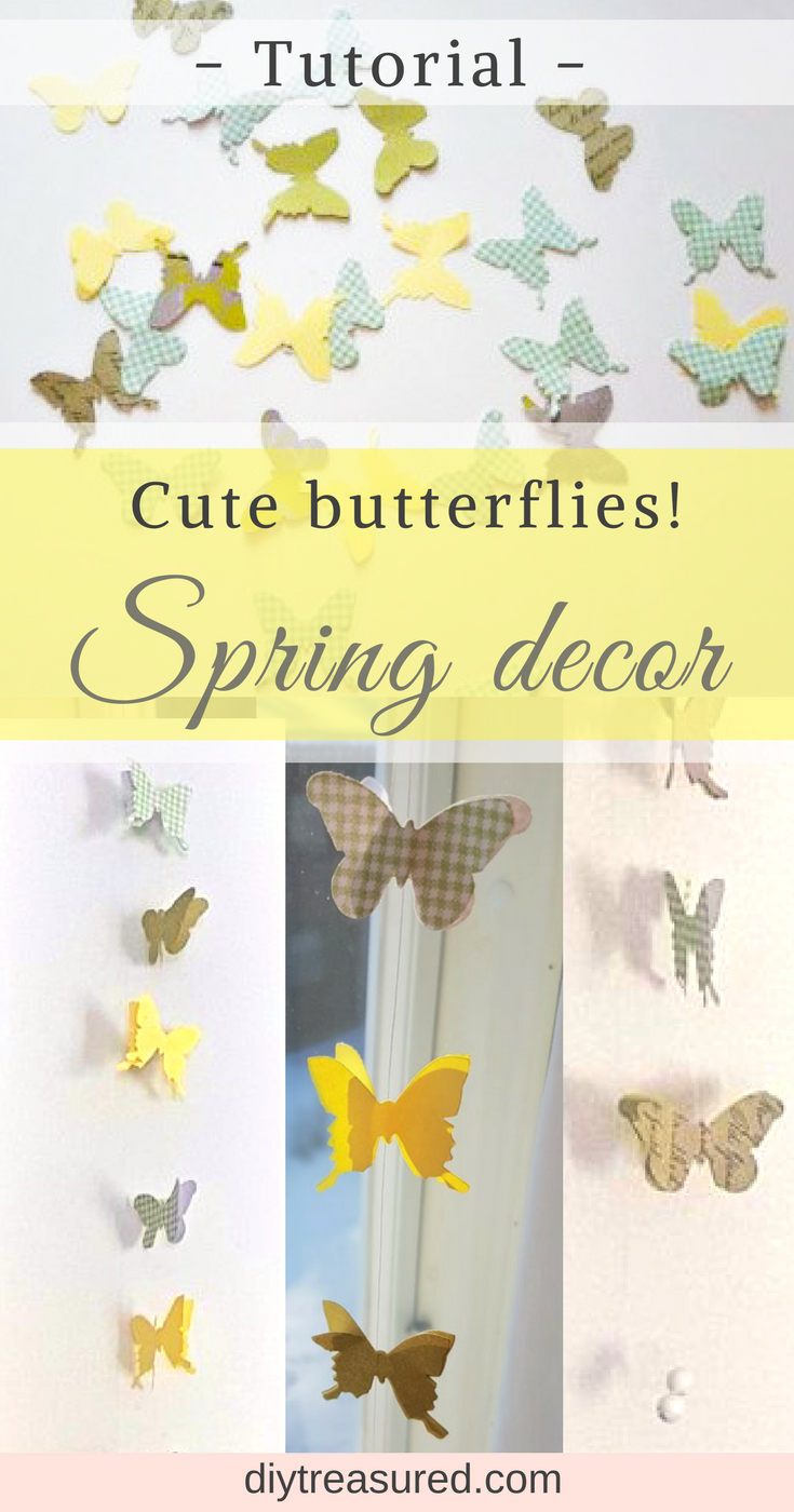 Cute butterfly garlands! These are great for decorations. You just ...