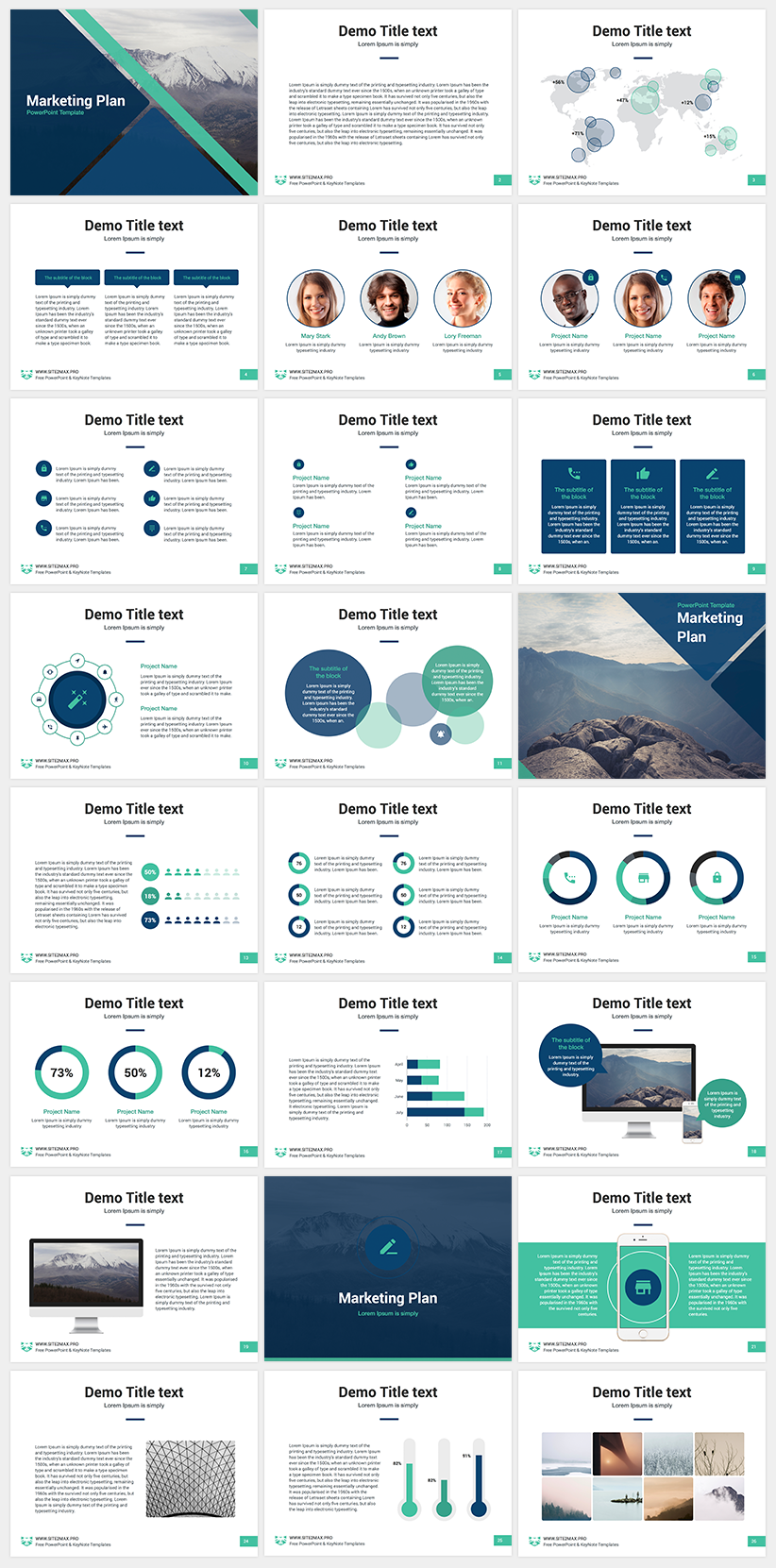 marketing plan free powerpoint template designs pinterest