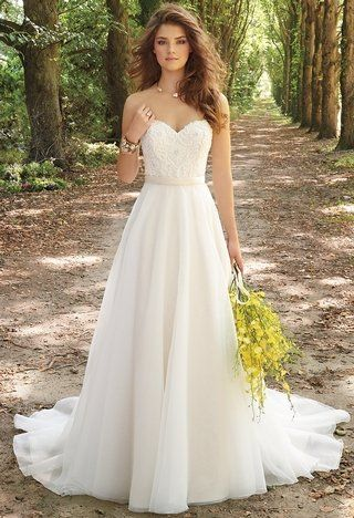 Organza Dress With Circle Skirt and Corset Bodice | wedding dresses ...