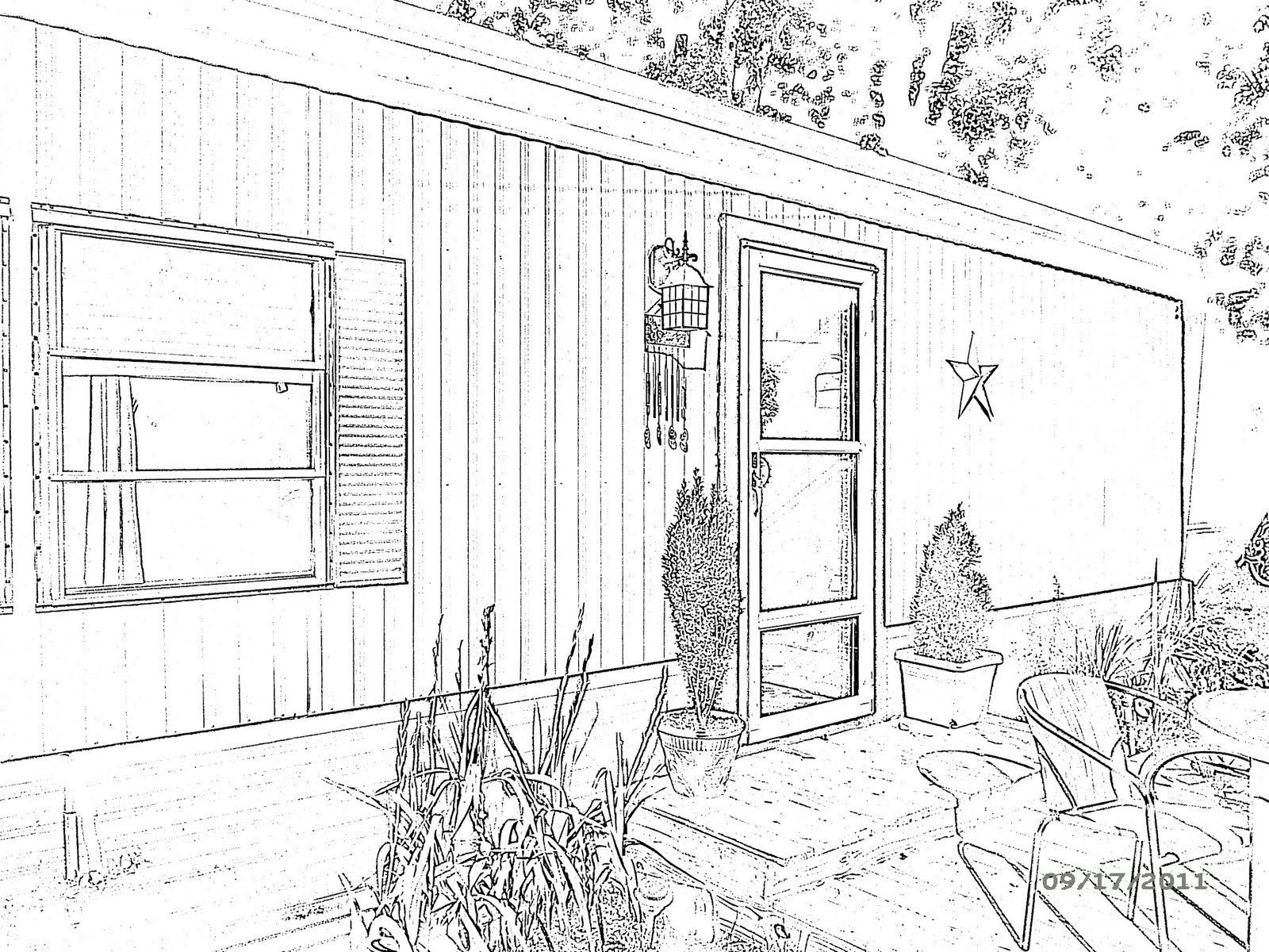 A camera sketch of a single wide | Mobile Homes | Pinterest | Single ...