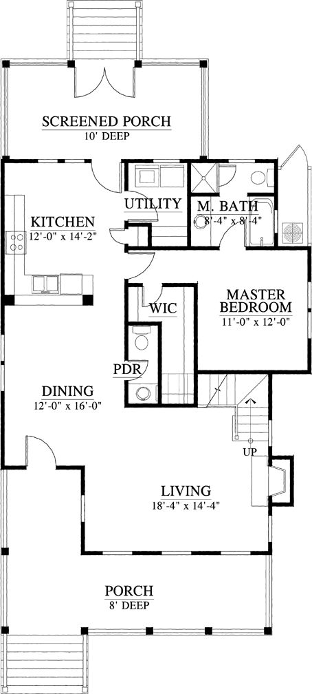 Floorplan For The Foxmeadow 1822 Square Foot House Plan C0011 Floor Plans House Plans How To Plan